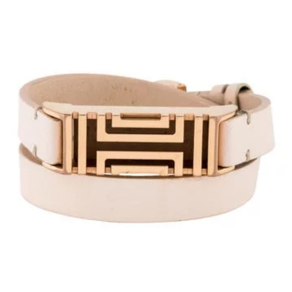 55d78dd15e7d Tory Burch for Fitbit Leather Wrap Bracelet. M 5adf82fb84b5cefad4080bf5.  Other Accessories ...